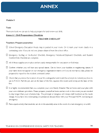 Fire Evacuation Route Plan by Annex Module 5 Drill Checklist Pdf Emergency Evacuation