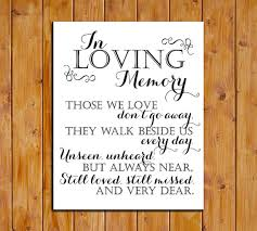 in loving memory wedding sign thru 12 30 only in loving memory printable sign for wedding