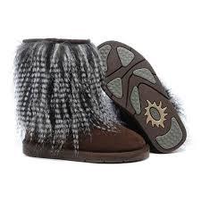 ugg bailey bow grau sale ugg damen hohe sheepskin cuff stiefel sandaletten