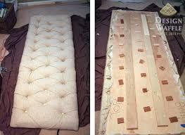 How To Make A Tufted Headboard Diy Tufted Headboard With Legs Laphotos Co