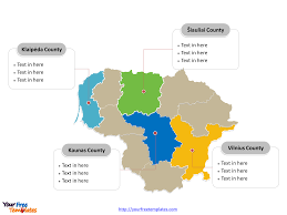 Lithuania World Map by Free Lithuania Editable Map Free Powerpoint Templates