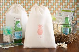 personalized wedding welcome bags pineapple wedding welcome bag tropical wedding favors