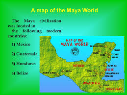 mayan empire map the mysteries of the civilization ppt
