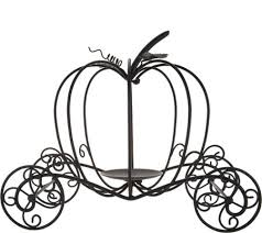 pumpkin carriage metal pumpkin carriage by valerie page 1 qvc