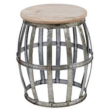 Metal Accent Table Galvanized Metal Scalloped Storage Accent Table Kirklands