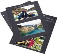 photo album black pages black mounting paper