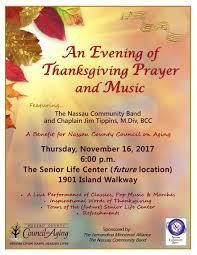 an evening of thanksgiving prayer and nassau county