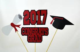 graduation cap centerpieces 2017 graduation centerpiece sticks set of 4 class of 2017