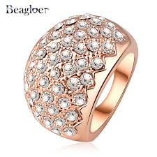 aliexpress buy beagloer new arrival ring gold beagloer newest gold color austrian element sawtooth