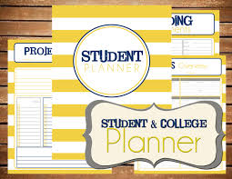 cute daily planner template student college planner stripe printable planner organizer zoom