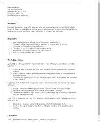 Retail Sales Resume Sample by Cosmetics Sales Resume 12234
