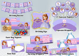 Sofia The First Printable Party Package