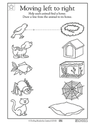 kindergarten preschool reading writing worksheets connect the