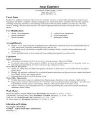 list of medical secretary skills resume cover letters medical