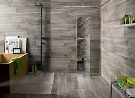 ceramic wood tile bathroom stylish modern clear glass shower room