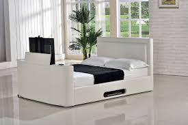 Tv Bed Frames Monaco 5ft Kingsize Tv Bed Ivory Leaders Creative Tv Bed Frame