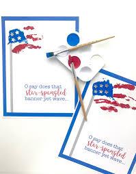 Printable Flag Star Spangled Banner Handprint Art With Printable I Can Teach My