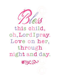 Baby Verses For Baby Shower - u0027s art print prayer bless this child pink script child