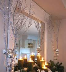 branch decor mantel tree branch decor ideas with green candles and pine leaves