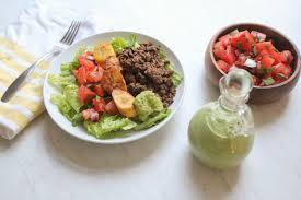 paleo taco salad recipe with green goddess dressing olive you whole
