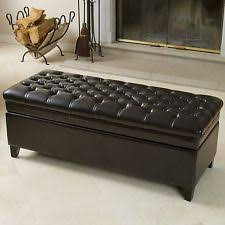 Leather Bench Ottoman by Leather Bench Ebay