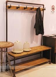 american country style retro industrial iron coat rack hanger hall