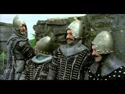 the monty python and holy grail the english meet the french