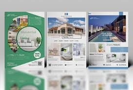 real estate flyer on behance