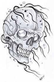 engrave skull tattoo design tattoomagz