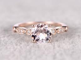 morganite gold engagement ring 6 5mm morganite engagement ring diamond wedding ring 14k