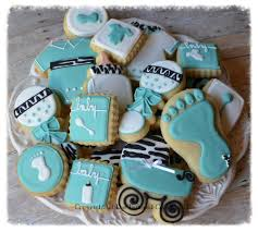 tiffany zebra baby shower cookie connection