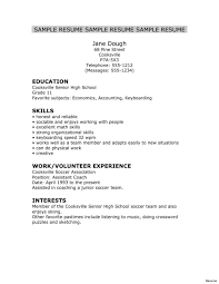 exle of resume for college application best solutions of sle resume for high school graduate with no