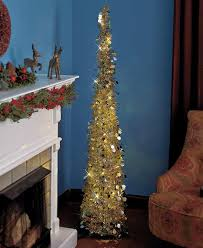 collapsible 65 lighted tree green gold silver small