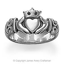 avery adorned hearts ring oh avery jewelry avery claddagh