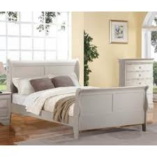 White Sleigh Bed White Queen Sleigh Bed