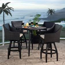 Wicker Patio Table And Chairs Wicker Patio Furniture Sets The Home Depot