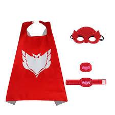 pj masks 4pcs pj masks cloak cape mask owlette catboy
