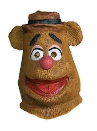 bear halloween mask fozzie bear the muppets mask