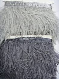 Where To Buy Ostrich Feathers For Centerpieces by 10 Yards1 Ply Light Gray U0026dark Gray Ostrich Feather Trimming Fringe