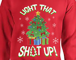Ugly Christmas Sweater Party Poem - light up sweater etsy