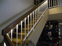 led strip lights for stairs led strip light underneath the railing led lighting ideas for