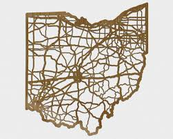 how cool is this wooden ohio road map cutout wall diy wall