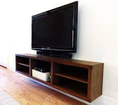 Corner Console Cabinet Walnut Entrance Cabinet And Floating T V Console Modern