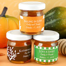 honey jar favors falling in personalized autumn honey jar favors