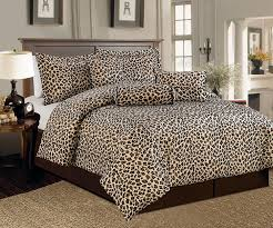 Leopard Bed Set Beautiful 7 Pc Brown And Beige Leopard Print Faux Fur