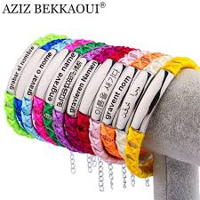 braided charm bracelet images Multicolor charm bracelet for women adjust size personalized jpg