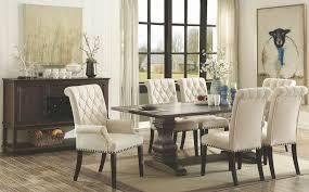 espresso dining room set coaster parkins rustic espresso rectangular dining room set