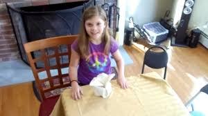 napkin folding for thanksgiving dinner how to fold a napkin for thanksgiving kids version youtube
