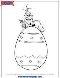 frozen snowman olaf easter egg coloring u0026