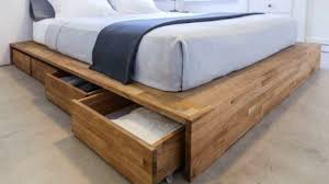 wood bed frame with drawers storage bed ideas sustainablepals org